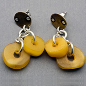 amber sterling silver earrings by jewels